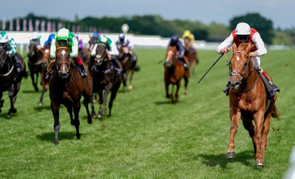 Golden Horde and Adam Kirby win the Commonwealth Cup at Royal Ascot for trainer Clive Cox. 19/6/2020
