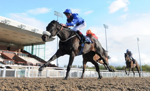 Get It and Adam Kirby win the Grab A Free Bet at freebet.com Novice Stakes at Wolverhampton. 4/5/2021 Pic Steve Davies